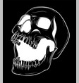 skull collection hand vector image vector image