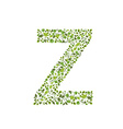 Spring green leaves eco letter Z vector image