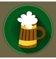 St Patrick Day beer mug icon vector image