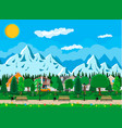 suburb park concept vector image vector image