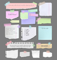 torn paper sheet pieces for notes and scrapbook vector image vector image