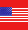 usa flag icon in flat style america national sign vector image
