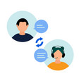 user support service vector image