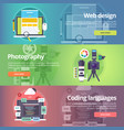web design art of digital photography coding vector image