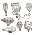 hot air balloons vector image