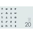 Set of baby food icons vector image