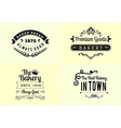 Typography bakery badge design set vector image