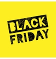 Black Friday sale scribble grunge stamp on yellow vector image