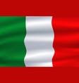 italy flag italian national symbol vector image
