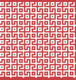 abstract seamless maze pattern geometric red vector image vector image