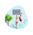 basketball sport concept vector image