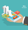Bill payment flat isometric concept