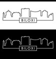 biloxi skyline linear style editable file vector image vector image