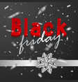black friday sale poster with shiny silver vector image