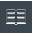 book related thin line icon vector image vector image