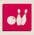 bowling sign grayscale vector image vector image
