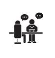 business conversation black concept icon vector image