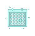 calendar date point icon design vector image