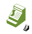 Cashier symbol Cash register sign Accounting money vector image