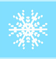 christmas decoration snowflake isolated vector image vector image
