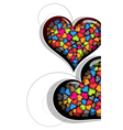 Colorful Valentine hearts vector image vector image