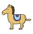 comic cartoon donkey vector image vector image