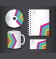 corporate identity branding template design vector image vector image