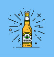 craft beer bottle icon vector image