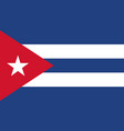 cuba flag icon in flat style cuban national sign vector image vector image