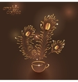 Cup of Arabic Coffee vector image vector image