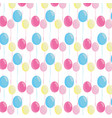 decorative party celebration balloons background vector image