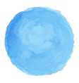 delicate blue watercolor painted stain vector image vector image