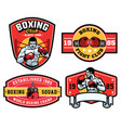 design badge boxing set collection vector image vector image