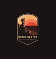 emblem patch logo bryce canyon national park vector image vector image