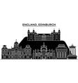 england edinburgh architecture city vector image