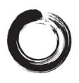 enso zen circle brush vector image vector image