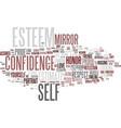 esteem word cloud concept vector image vector image