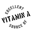 Excellent source of vitamin A stamp vector image vector image