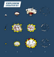 explosions icons set on white background cartoon vector image vector image