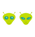 faces alien vector image vector image