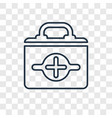 first aid kit concept linear icon isolated on vector image