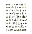 Fishing icons sketch for your design vector image