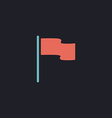 Flag computer symbol vector image vector image