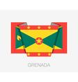 Flag of Grenada Flat Icon vector image vector image
