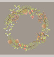 floral wreath decoration for christmas vector image