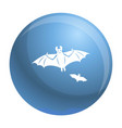 flying bat icon simple style vector image vector image