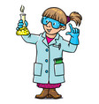 funny chemist or scientist vector image vector image