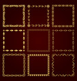 golden decorative retro frames vector image