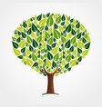 green leaf tree concept for nature help vector image vector image