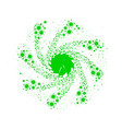 green pin wheel vector image vector image